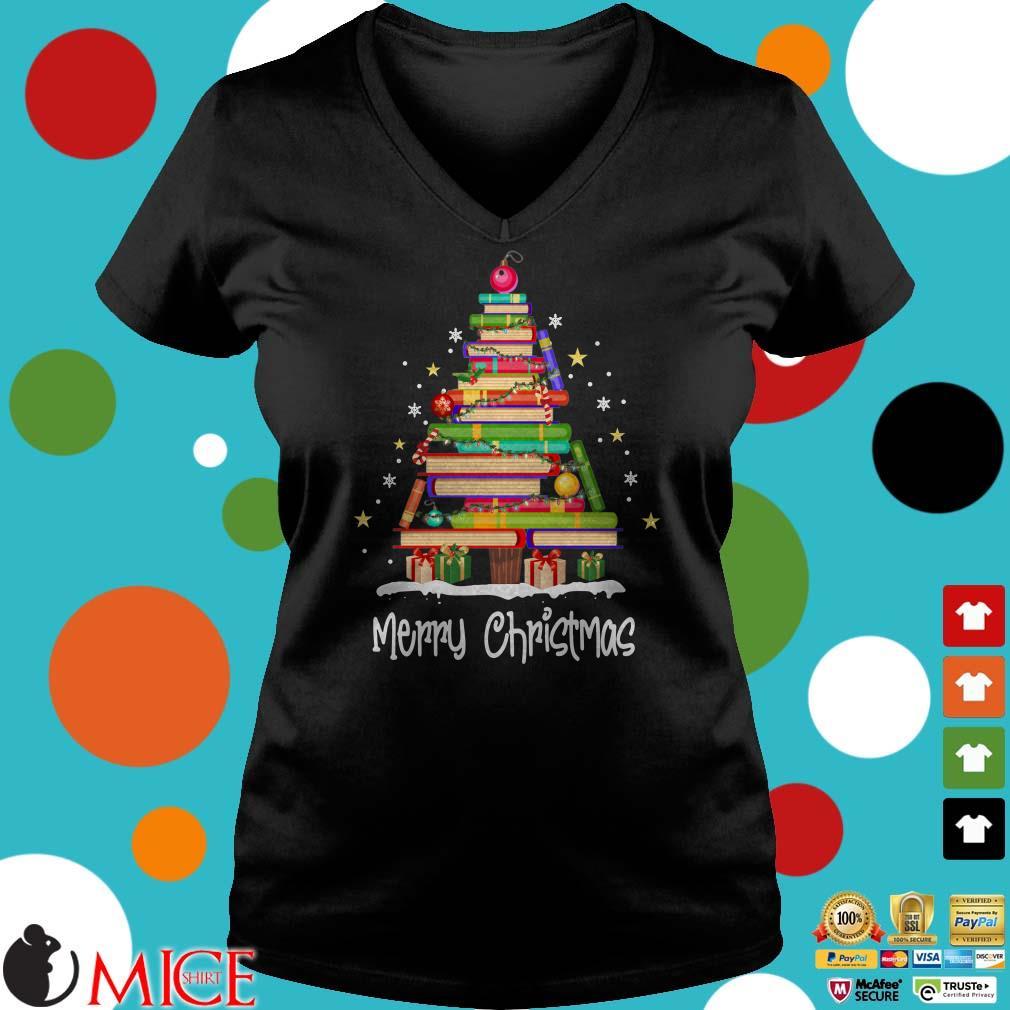 Books Merry Christmas Tree 2019 Shirt