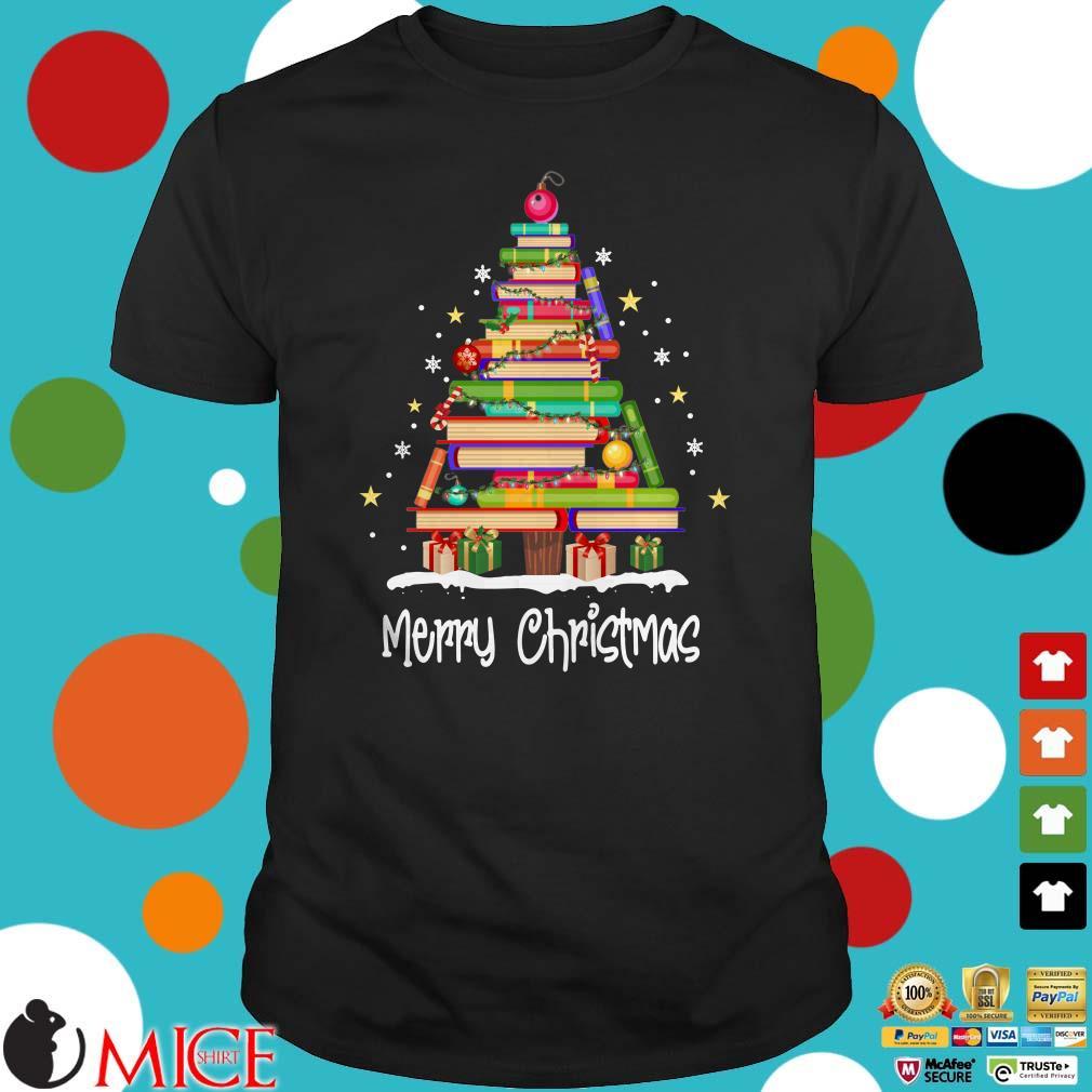 Merry Christmas Images 2019.Books Merry Christmas Tree 2019 Shirt