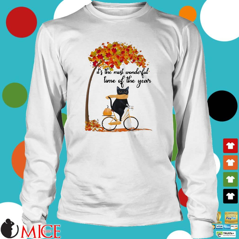 Cat riding bike it's the most wonderful time of the year shirt