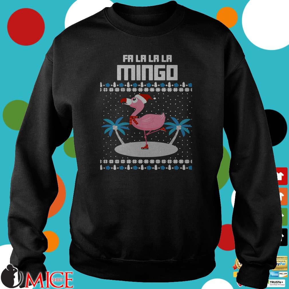 Fa La La Flamingo Ugly Christmas T-Shirt
