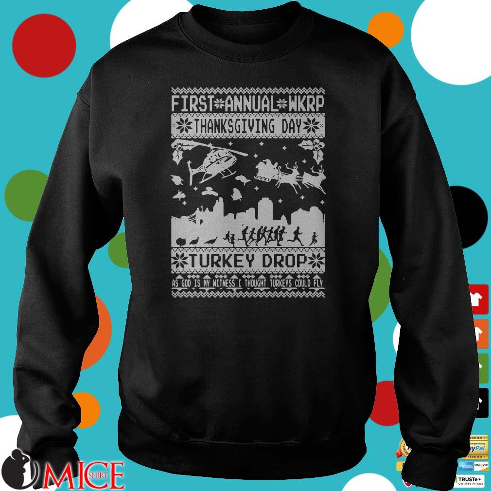 First Annual Wkrp Thanksgiving Day Turkey Drop Ugly Christmas Shirt