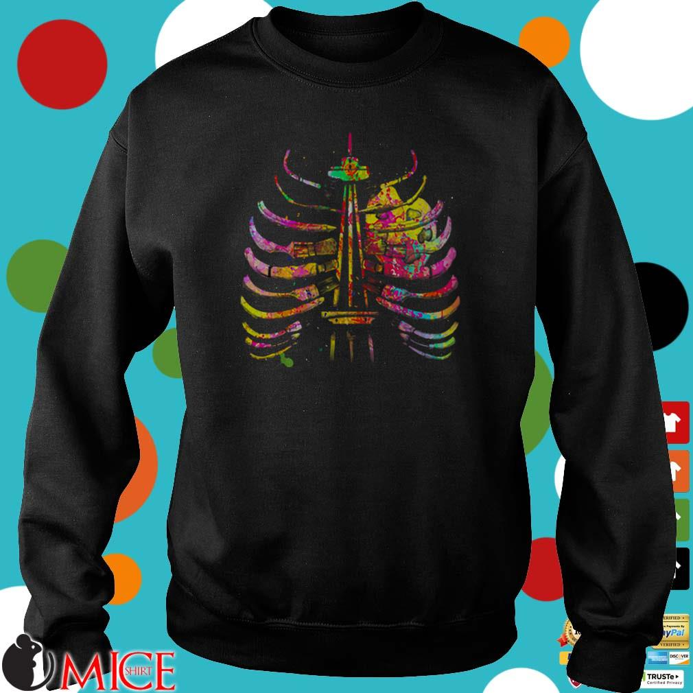 Halloween Art Bone Teachers Tie Dye Shirt
