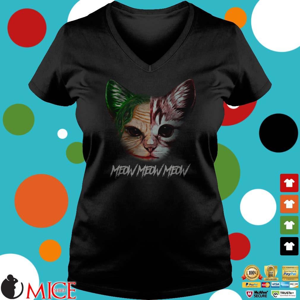 Joker and cat meow meow meow shirt