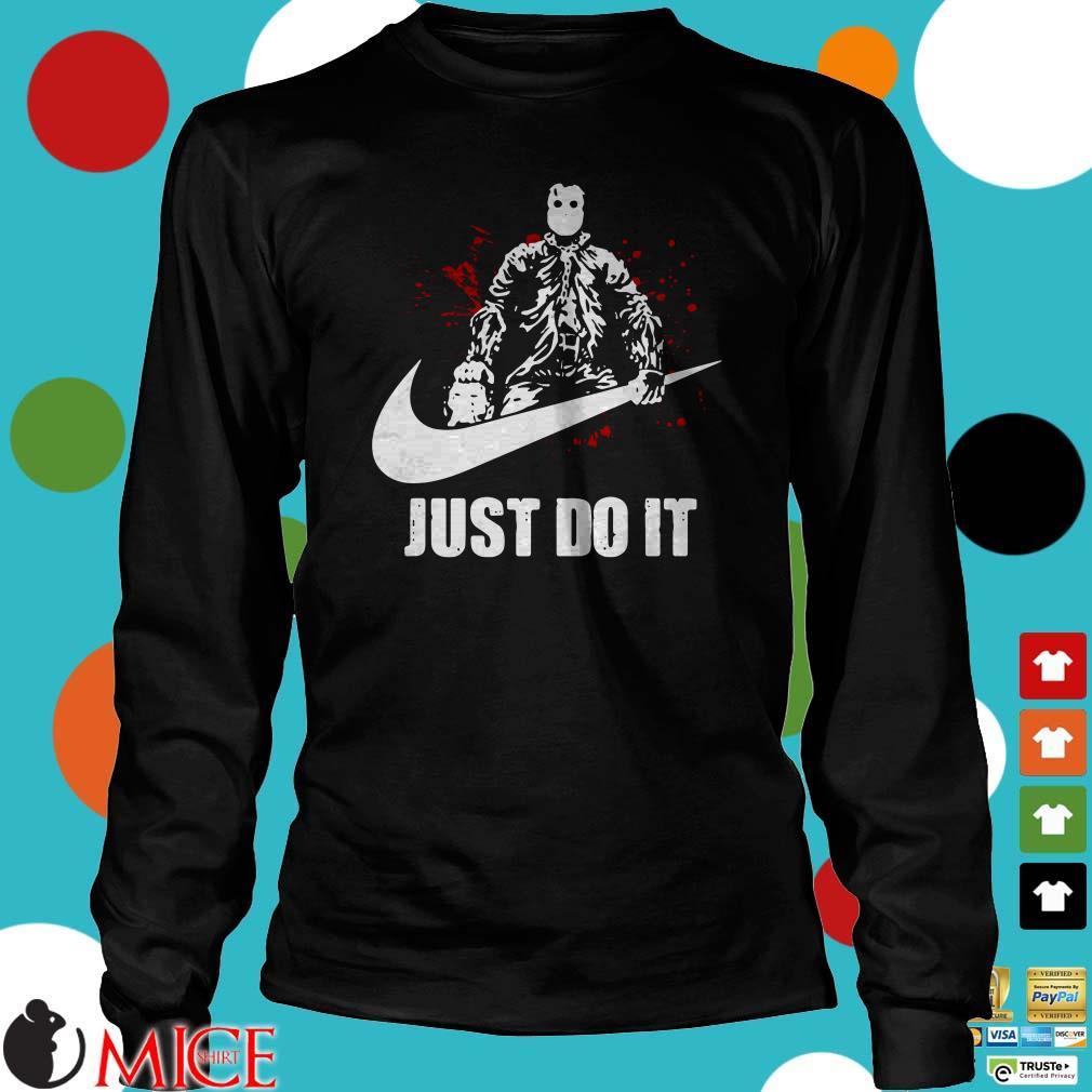 Just Do It Jason Voorhees Swoosh Halloween Shirt
