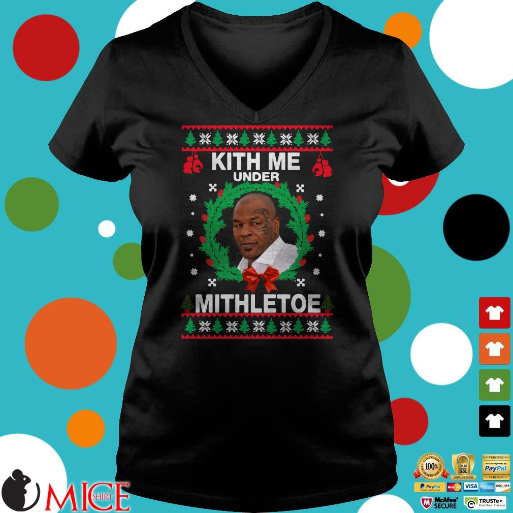 Mike Tyson kith me under the mithletoe Christmas Sweater