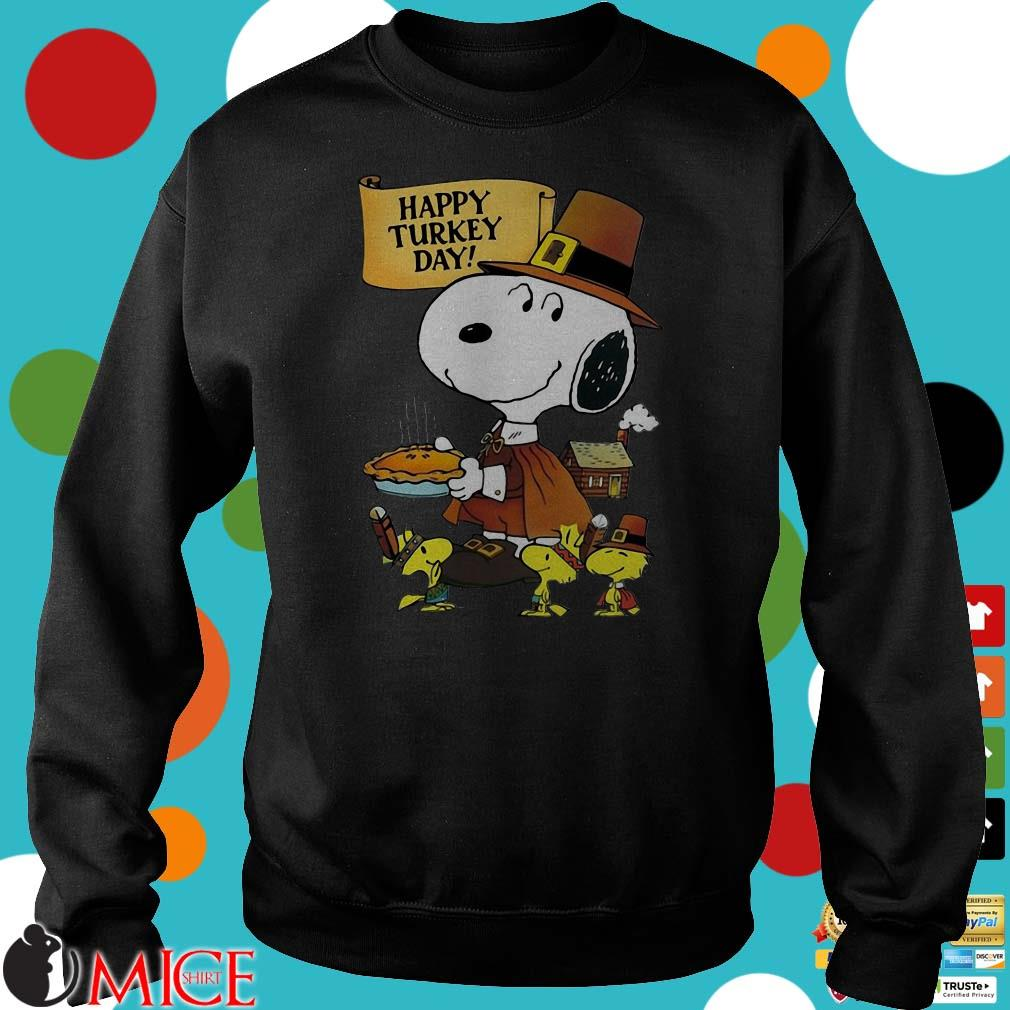 Snoopy Woodstock Happy Turkey Day Shirt