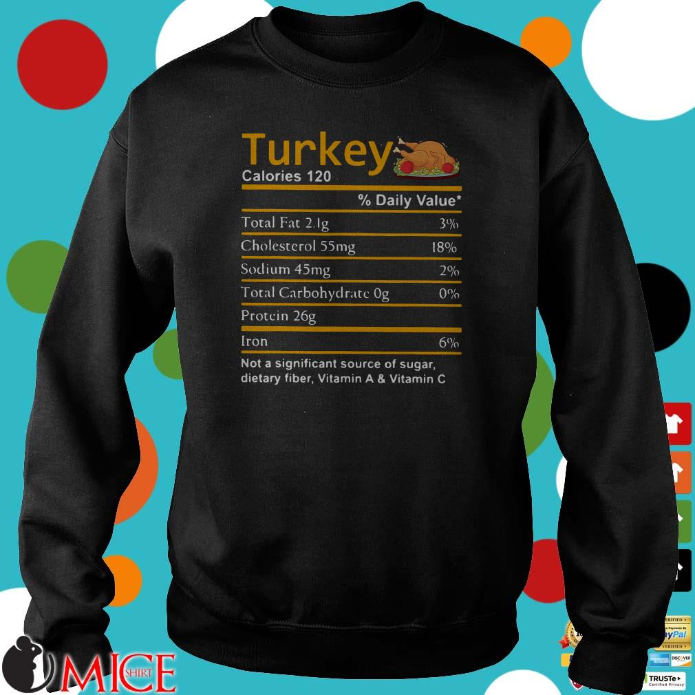 Turkey Nutrition Facts Thanksgiving Costume Shirt