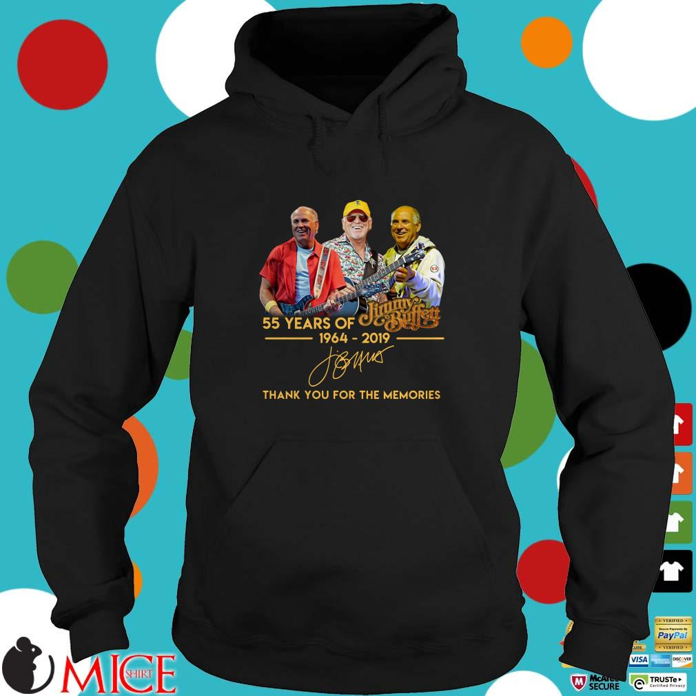 55 Years Of Jimmy Buffett 1964 2019 Thank You For The Memories Signature Shirt