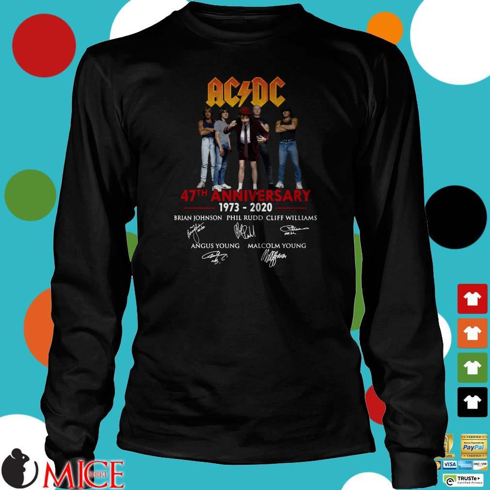 AC DC 47th anniversary 1973-2020 signatures Shirt