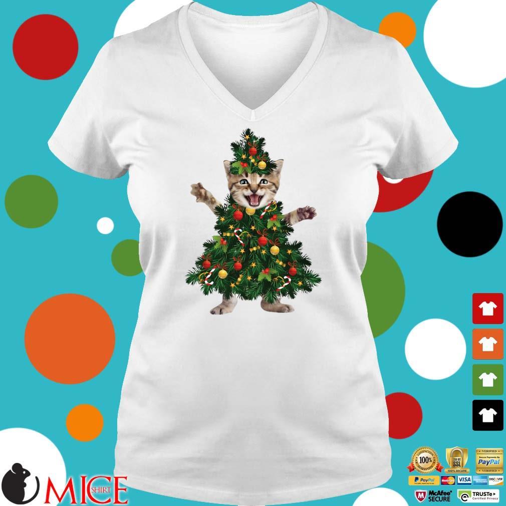 Cat Pine Christmas Shirt