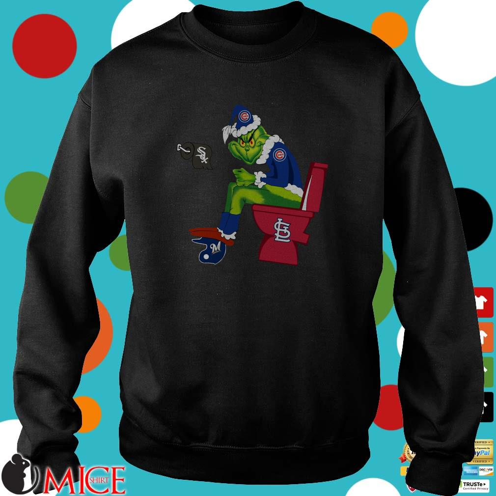 Chicago Cubs Grinch Santa Chicago White Sox Milwaukee Brewers St.Louis Cardinals Toilet Shirt