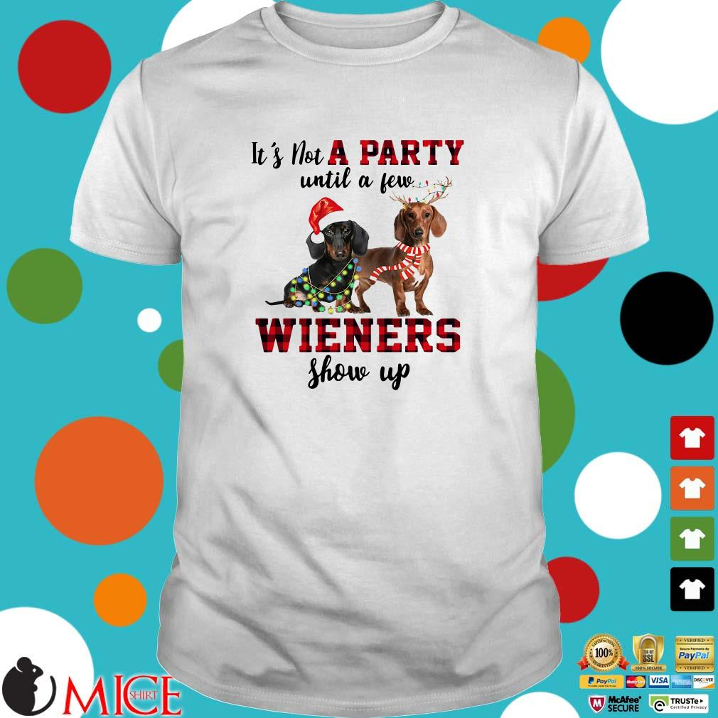 Dachshund it's not a party until a few wieners show up Christmas Sweater