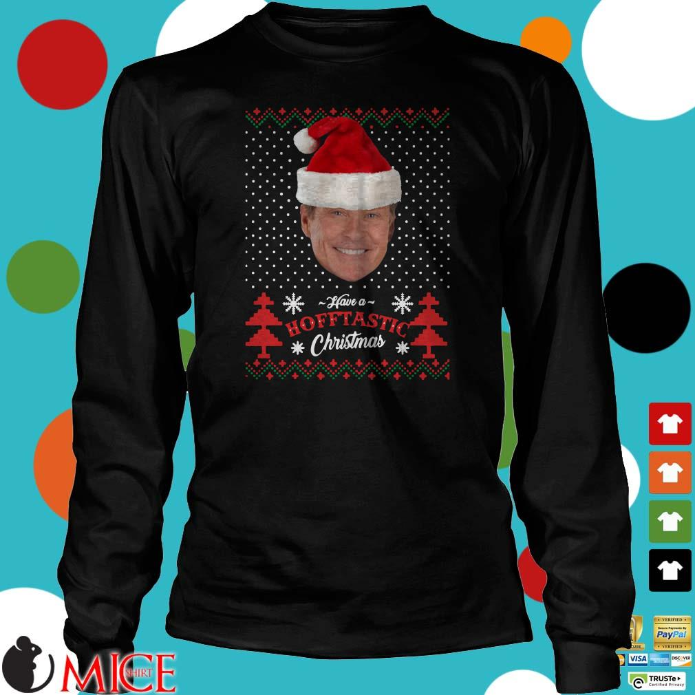 David Hasselhoff Have a Hofftastic Ugly Christmas Sweater