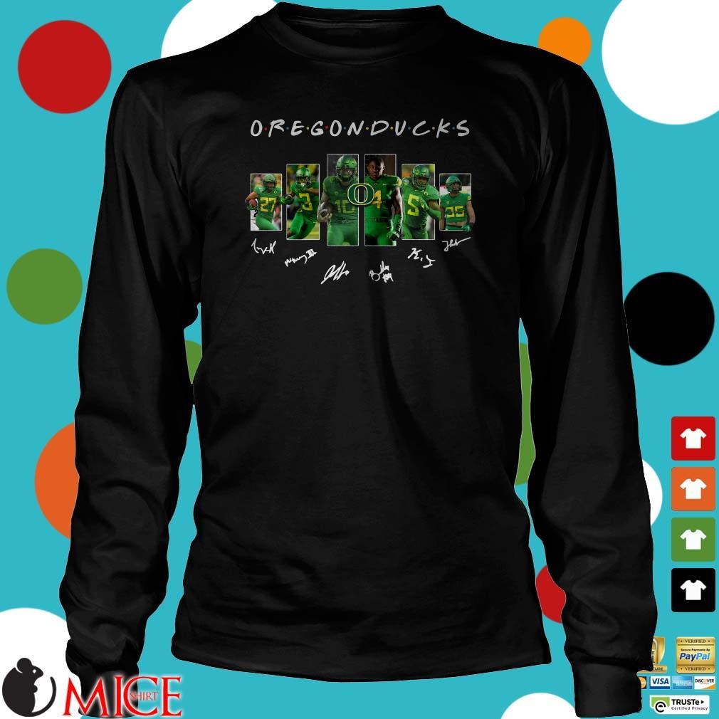 Friends Oregon Ducks Signatures Shirt