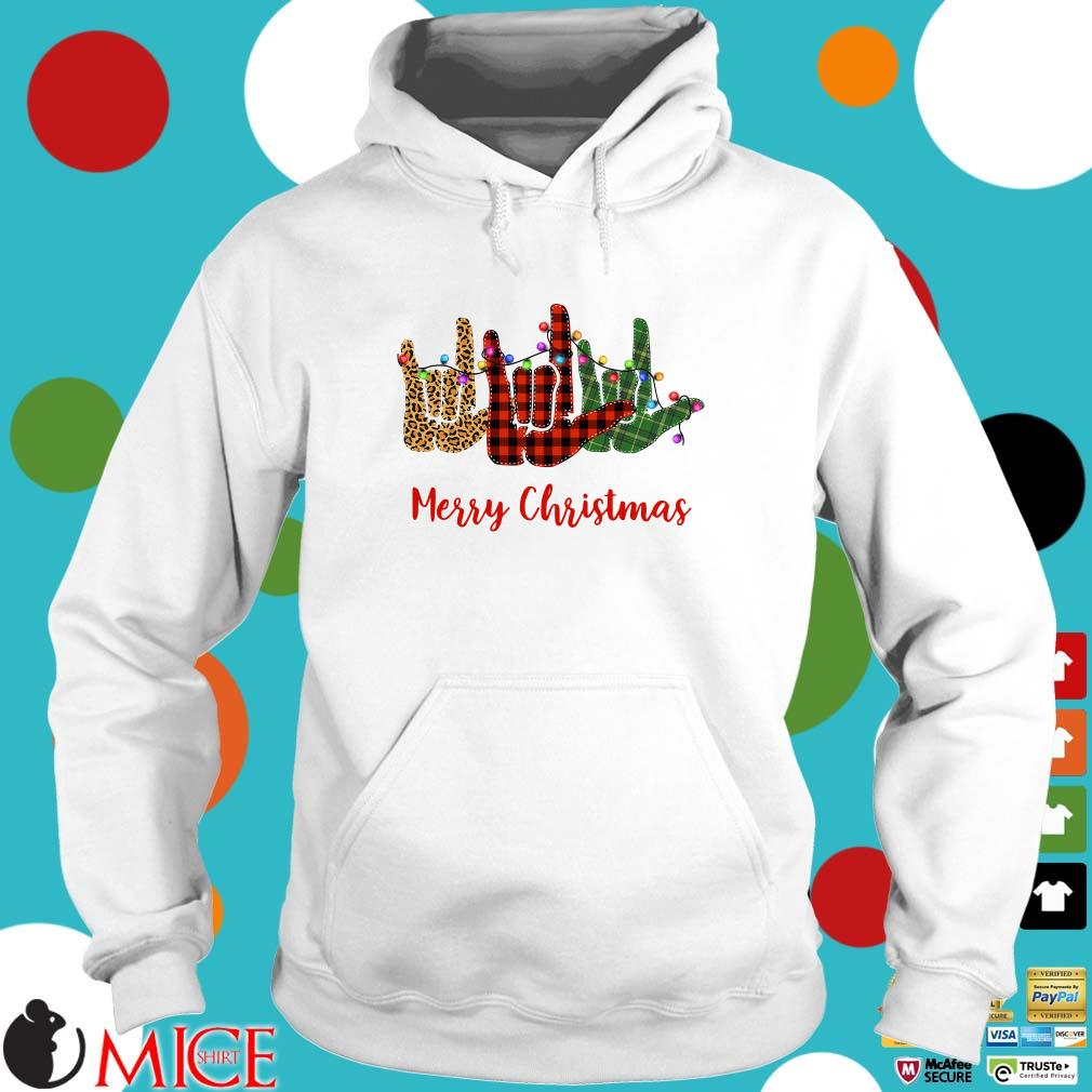 Hand I Love You Merry Christmas Sweater