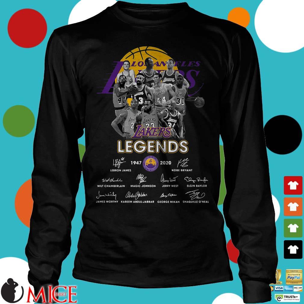 Los Angeles Lakers Legends 1947-2020 signatures Shirt