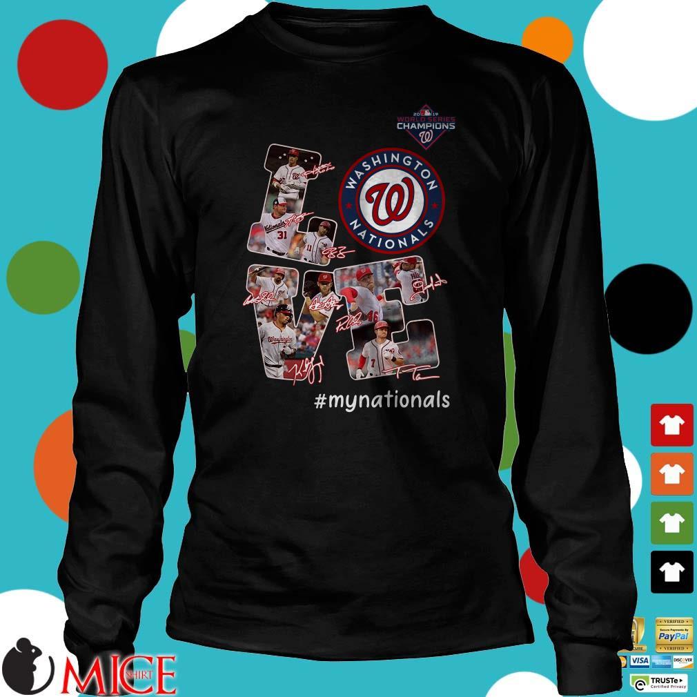Love Washington Nationals signatures Shirt