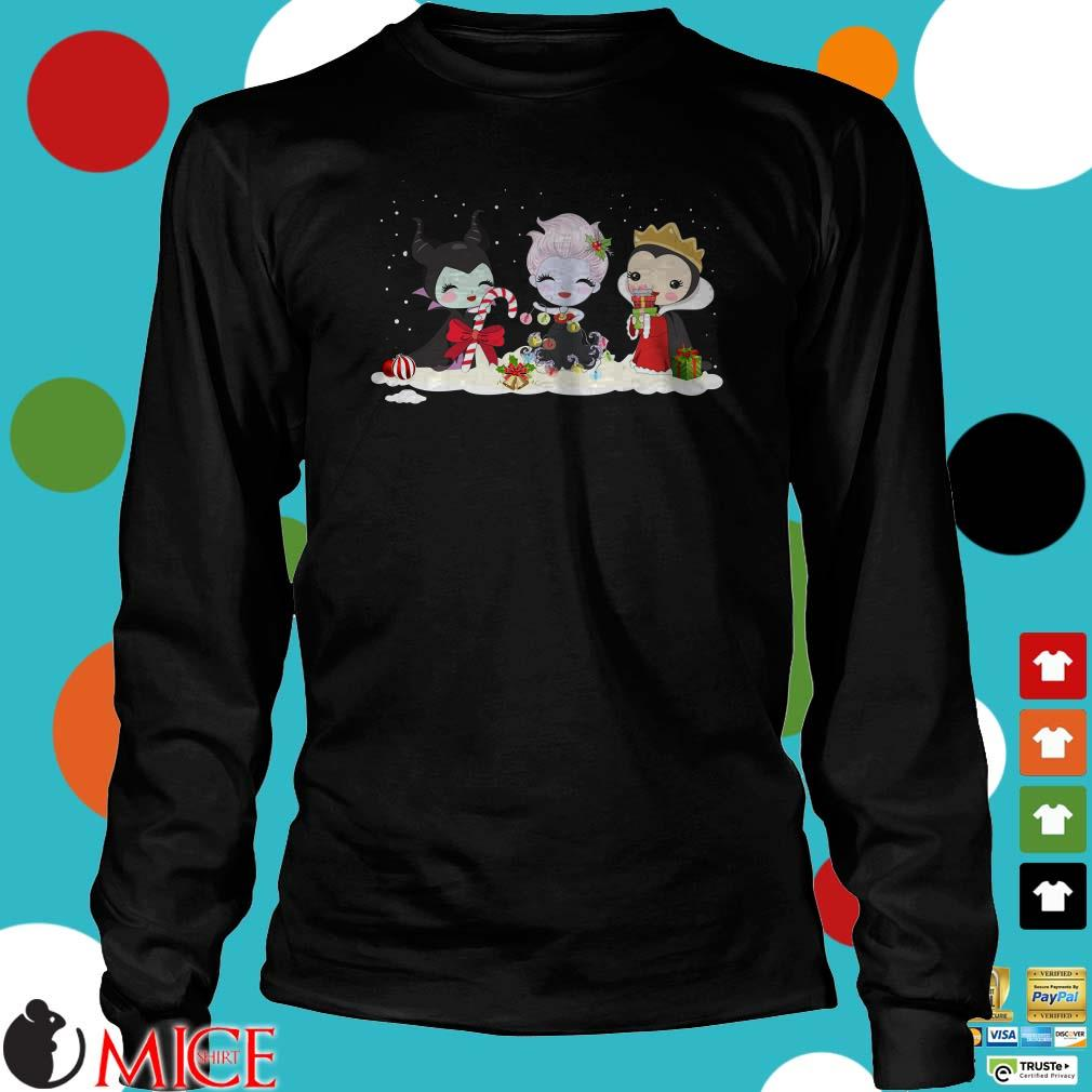 Maleficent Ursula And Evil Queen Chibi Christmas Sweatshirt