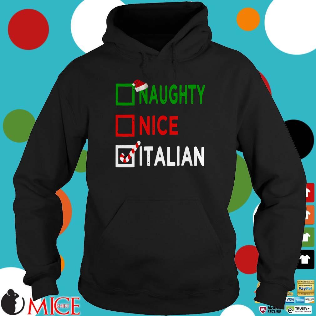 Naughty nice Italian Funny Christmas Santa Gift Xmas Ugly Sweater