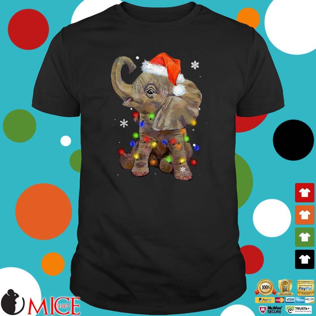 Santa Elephants Light Christmas Sweater