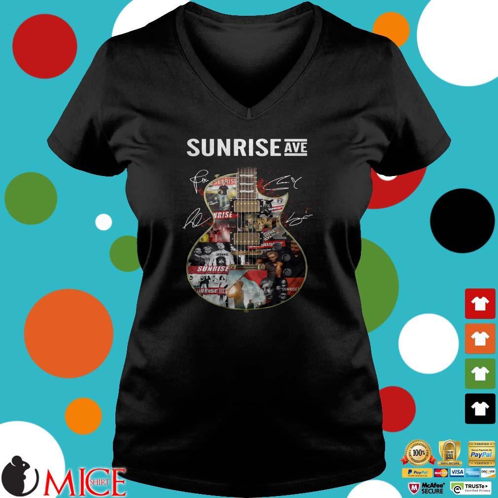 Sunrise Ave Guitar Signatures Shirt