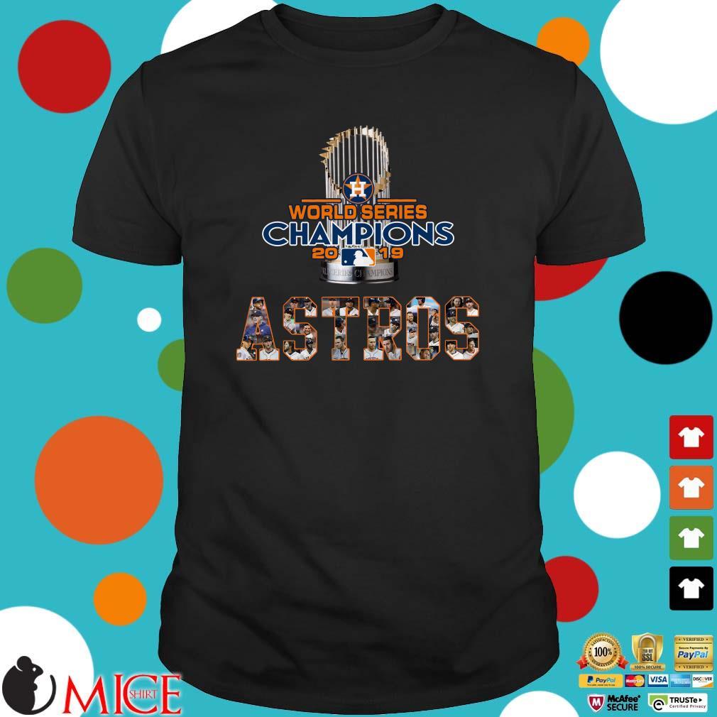 Astros Shirts >> Trophy World Series Champions 2019 Houston Astros Signature
