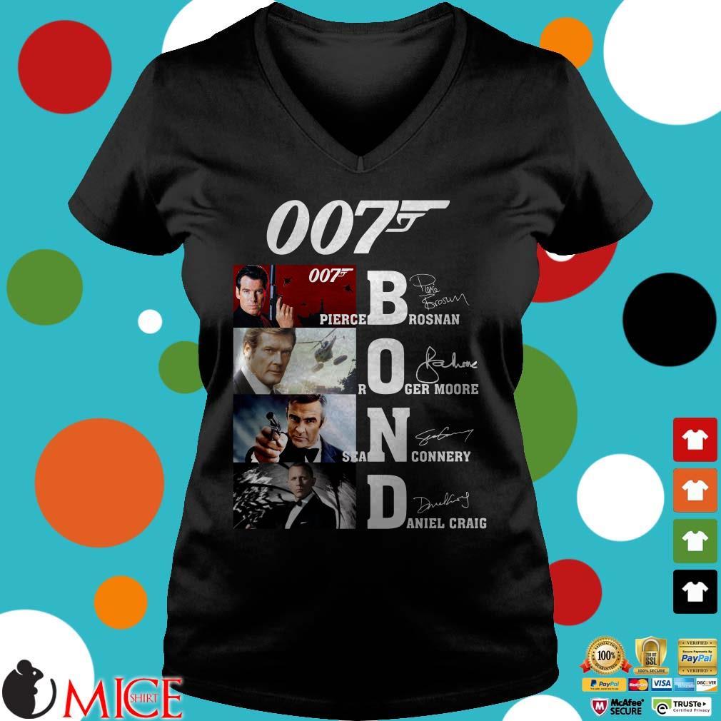007 Bond Pierce Brosnan Roger Moore Sean Connery Daniel Craig signatures Sweater