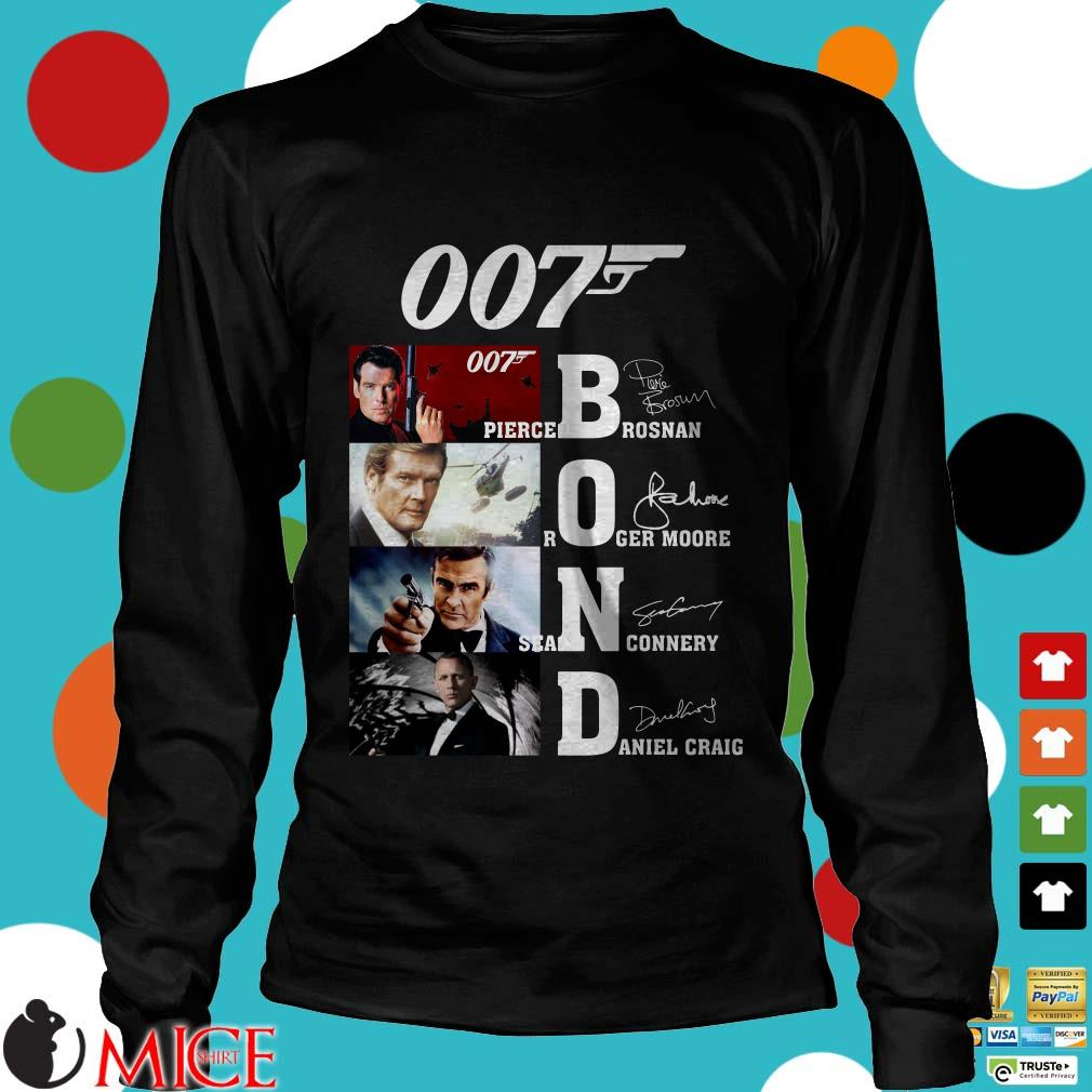 007 Bond Pierce Brosnan Roger Moore Sean Connery Daniel Craig signatures Sweater