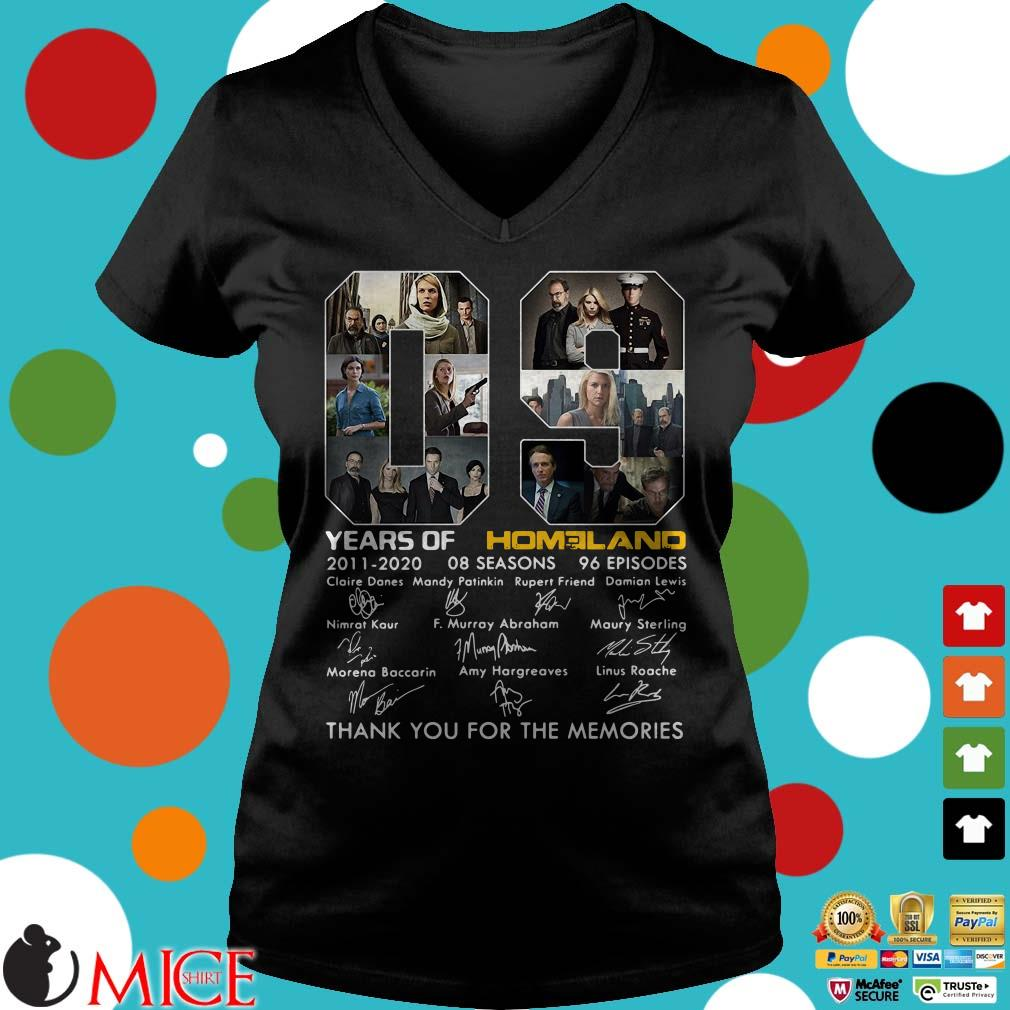 09 Year of Homeland 2011-2020 Signatures Thank You For The Memories Shirt