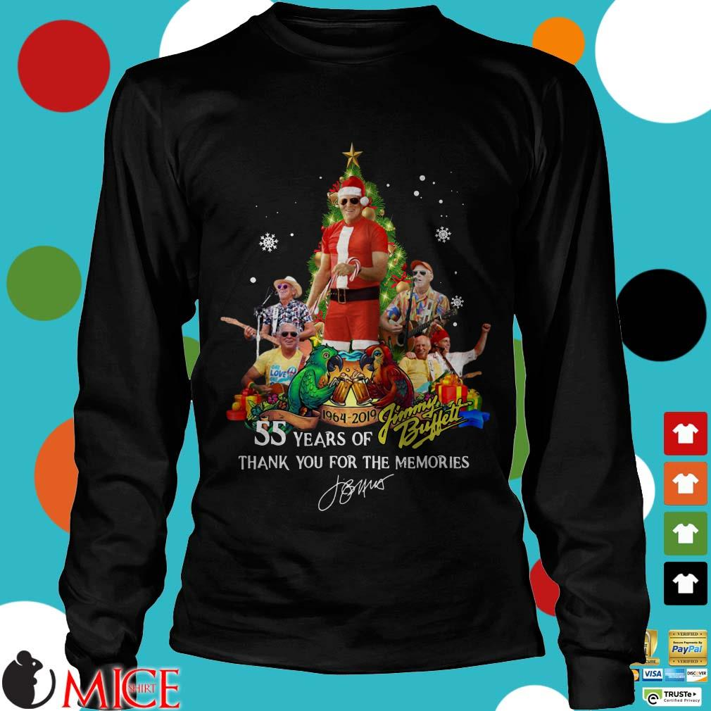55 years of Jimmy Buffett thank you for the memories Christmas tree signaature Sweater