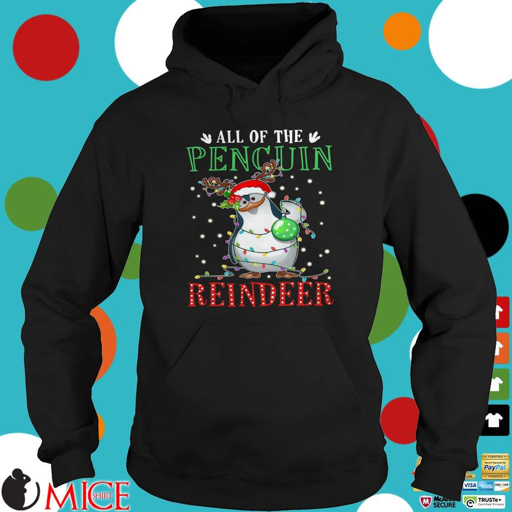 All Of The Penguin Reinderr Light Christmas Sweater