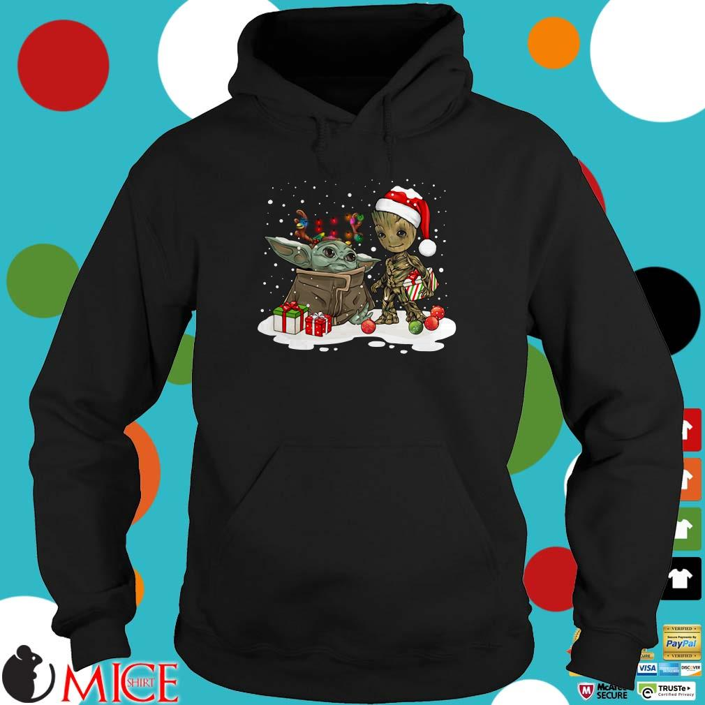 Baby Yoda And Santa Groot Ugly Christmas Sweater