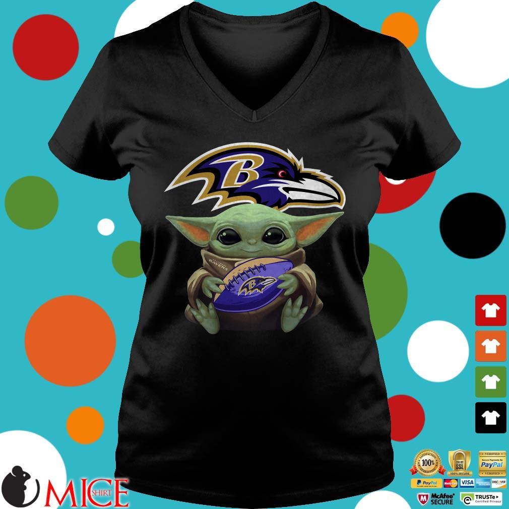 Baby Yoda Hug Baltimore Ravens NFL Shirt