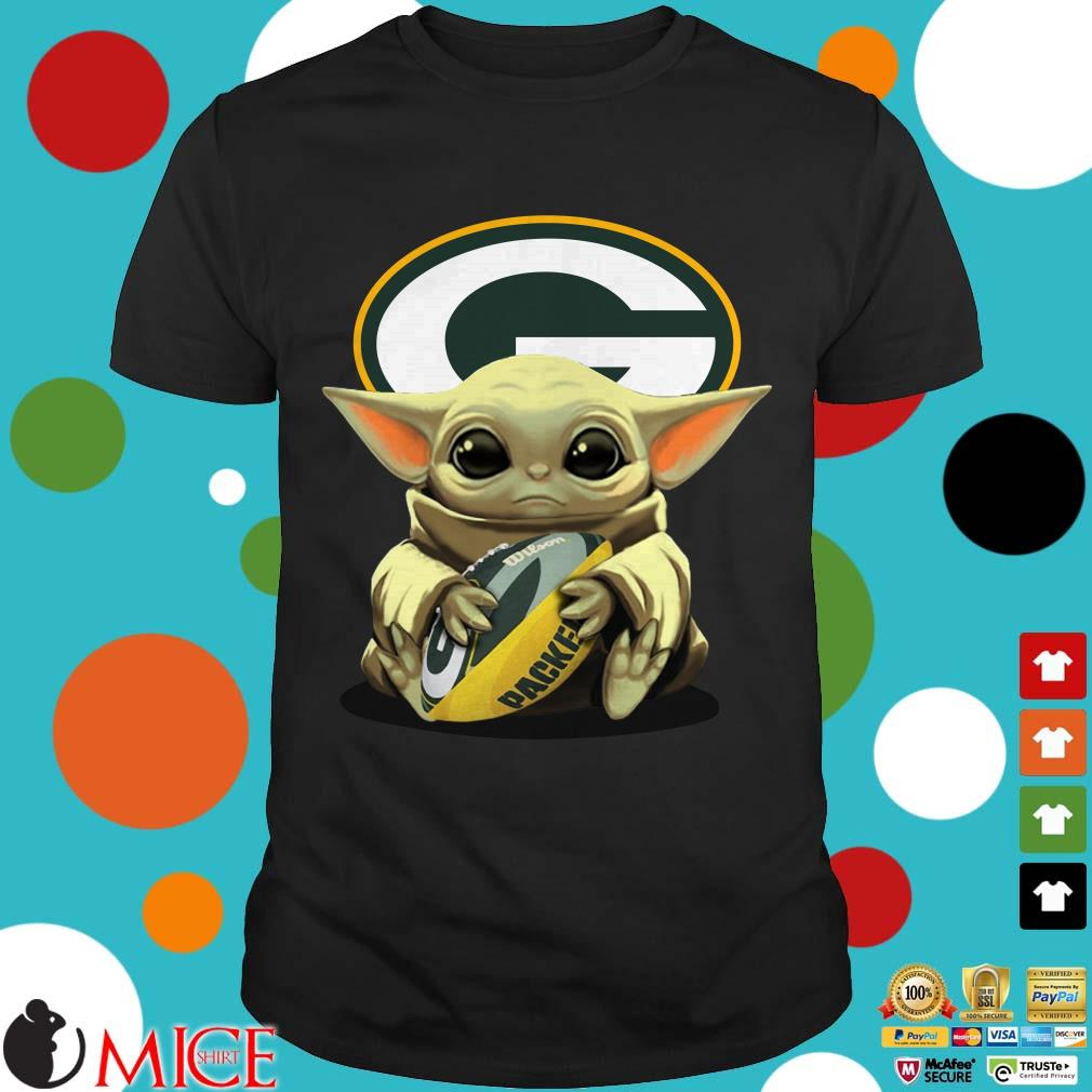 Baby Yoda Hug Green Bay Packers Logo Shirt Sweater Hoodie And Long Sleeved Ladies