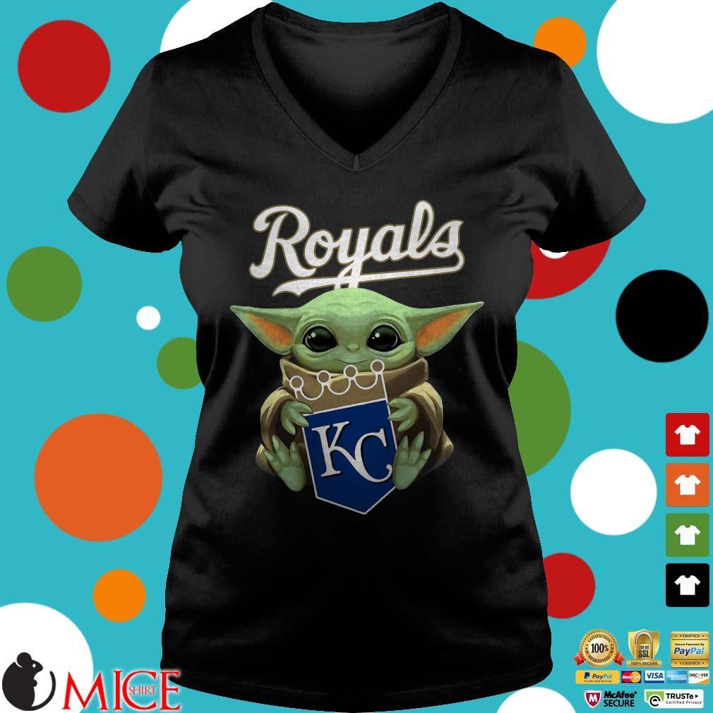 Baby Yoda Hug Kansas City Royals Shirt