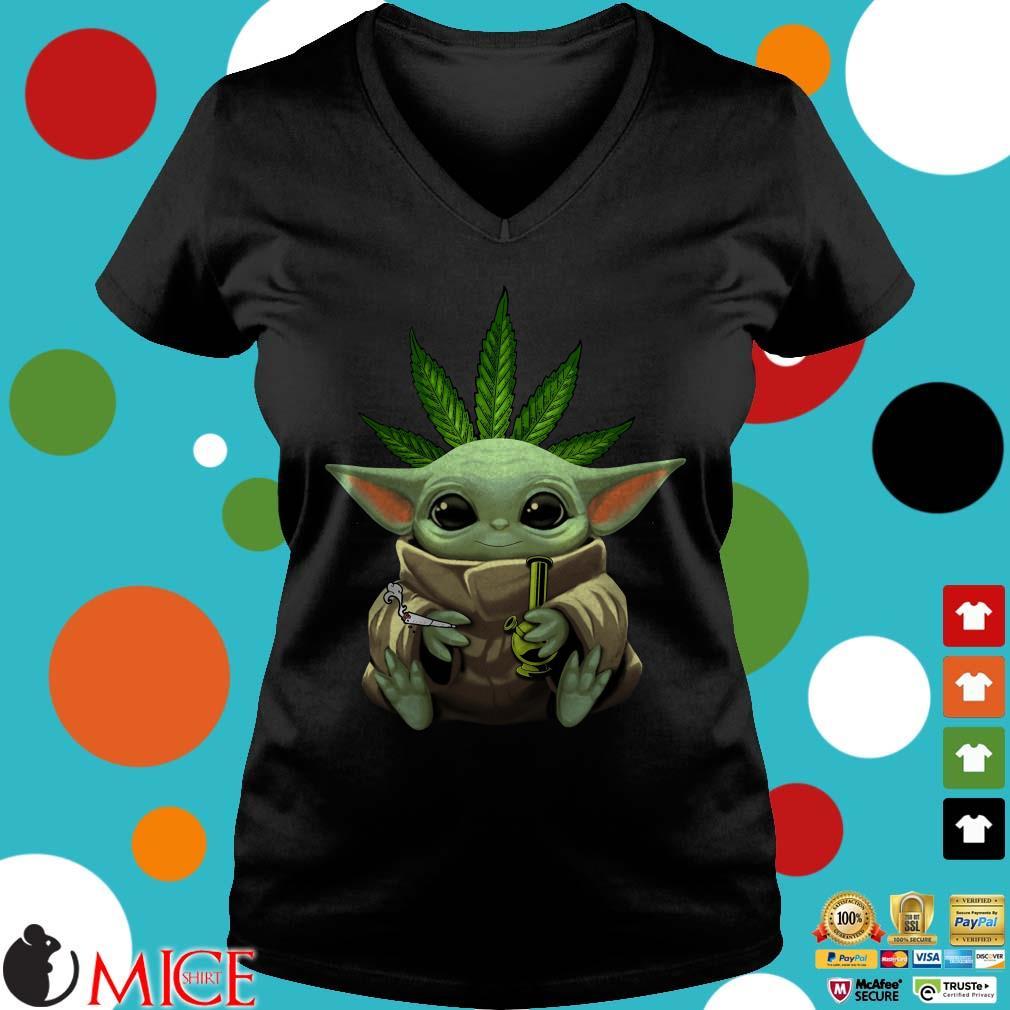 Baby Yoda Hug Weed smoking pipe Shirt