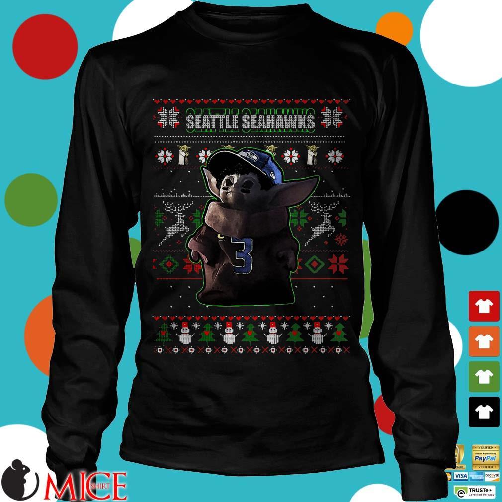 Baby Yoda Seattle Seahawks Ugly Christmas Sweater