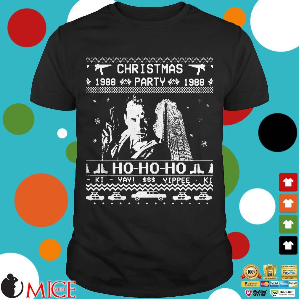 Christmas Party 1988 Ho Ho Ho Ki Yay Yippee Ki Ugly Christmas Sweater