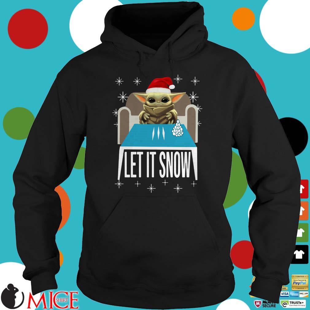 Cocaine Yoda Santa Let It Snow Sweater