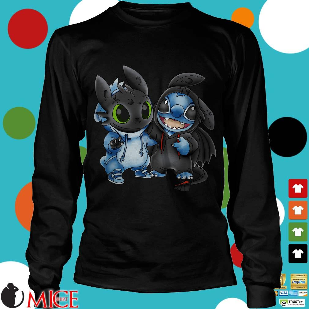Night Fury And Baby Stitch Shirt