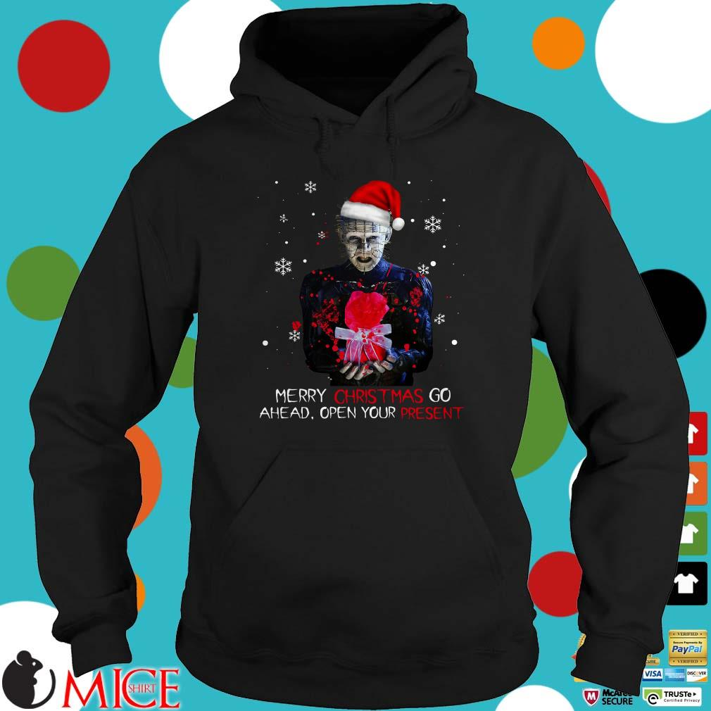 Pinhead merry christmas go ahead open your present Christmas Sweater
