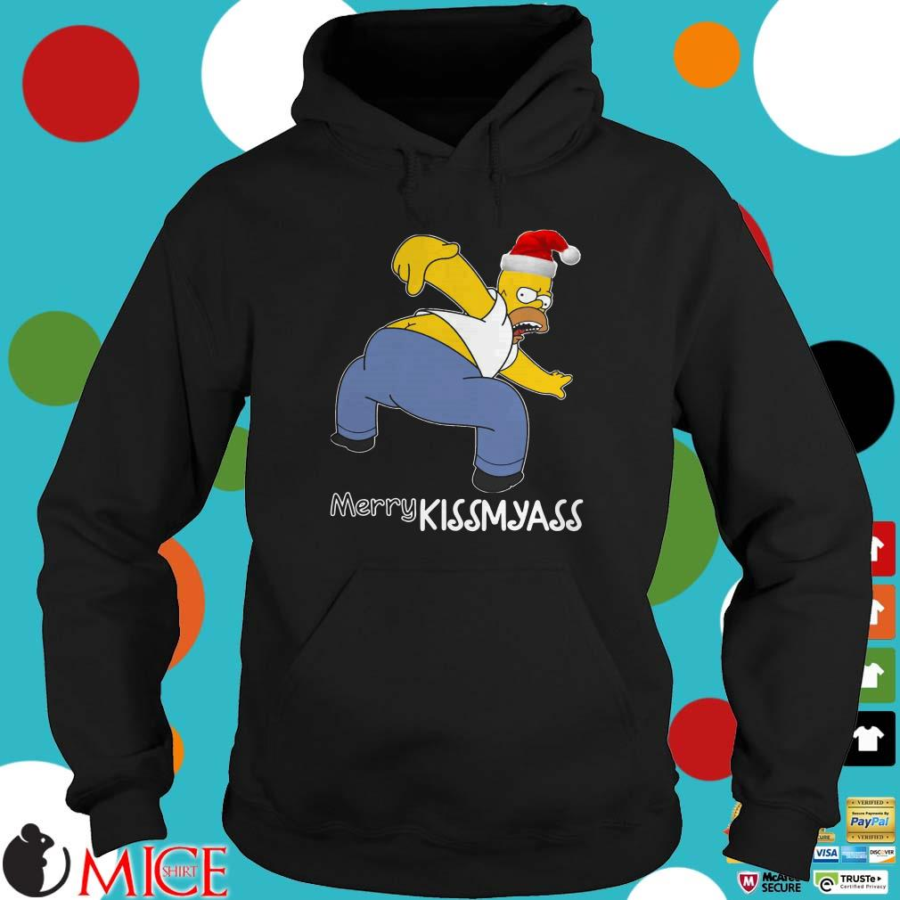 Santa Homer Simpson Merry Kissmyass Sweater