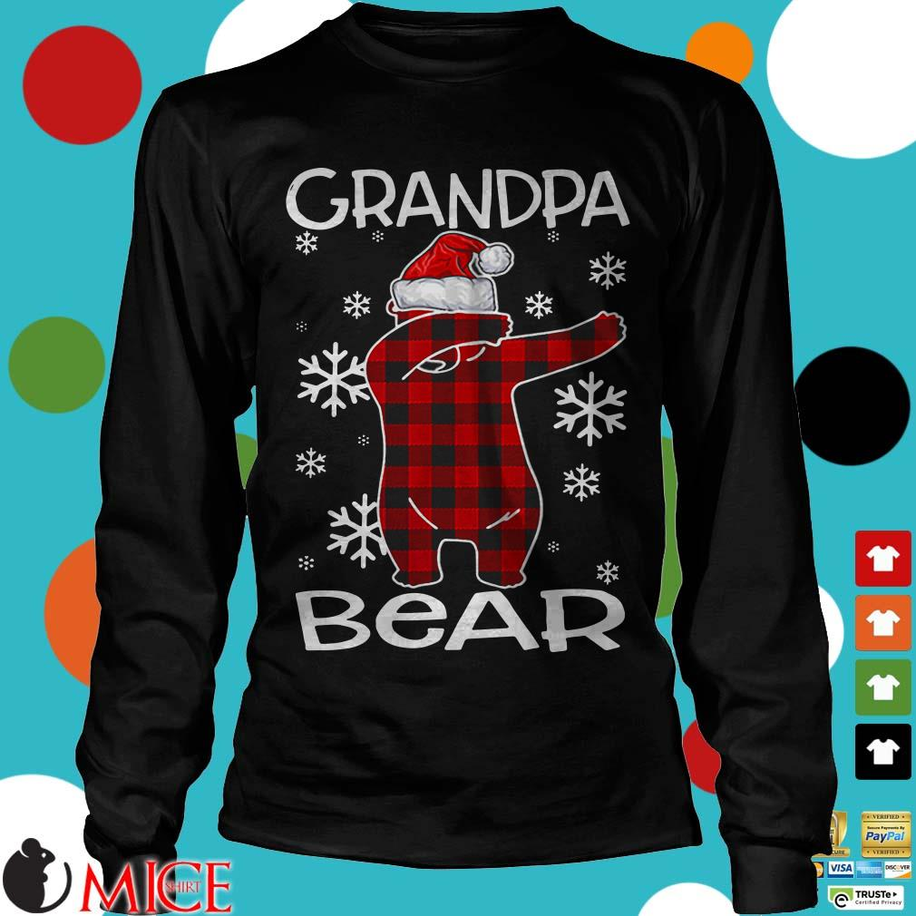 Grandpa Bear Pajama Dabbing Hat Santa Sweater