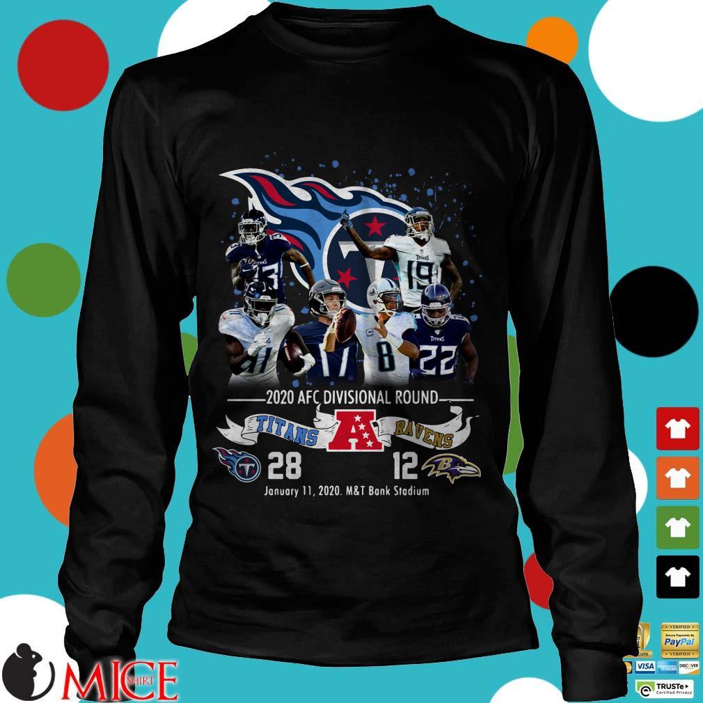 2020 AFC Divisional Round Titans 28 Bravens 12 Shirt
