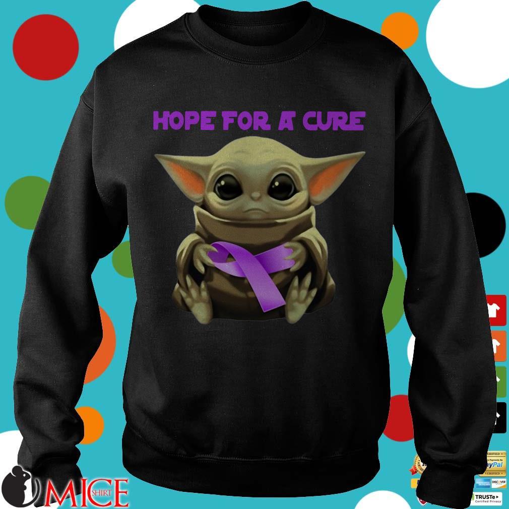 Baby Yoda Hug Alzheimer's Awareness Hope For A Cure Shirt