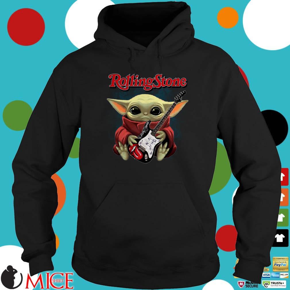Baby Yoda Hug Guitar Rolling Stone Shirt