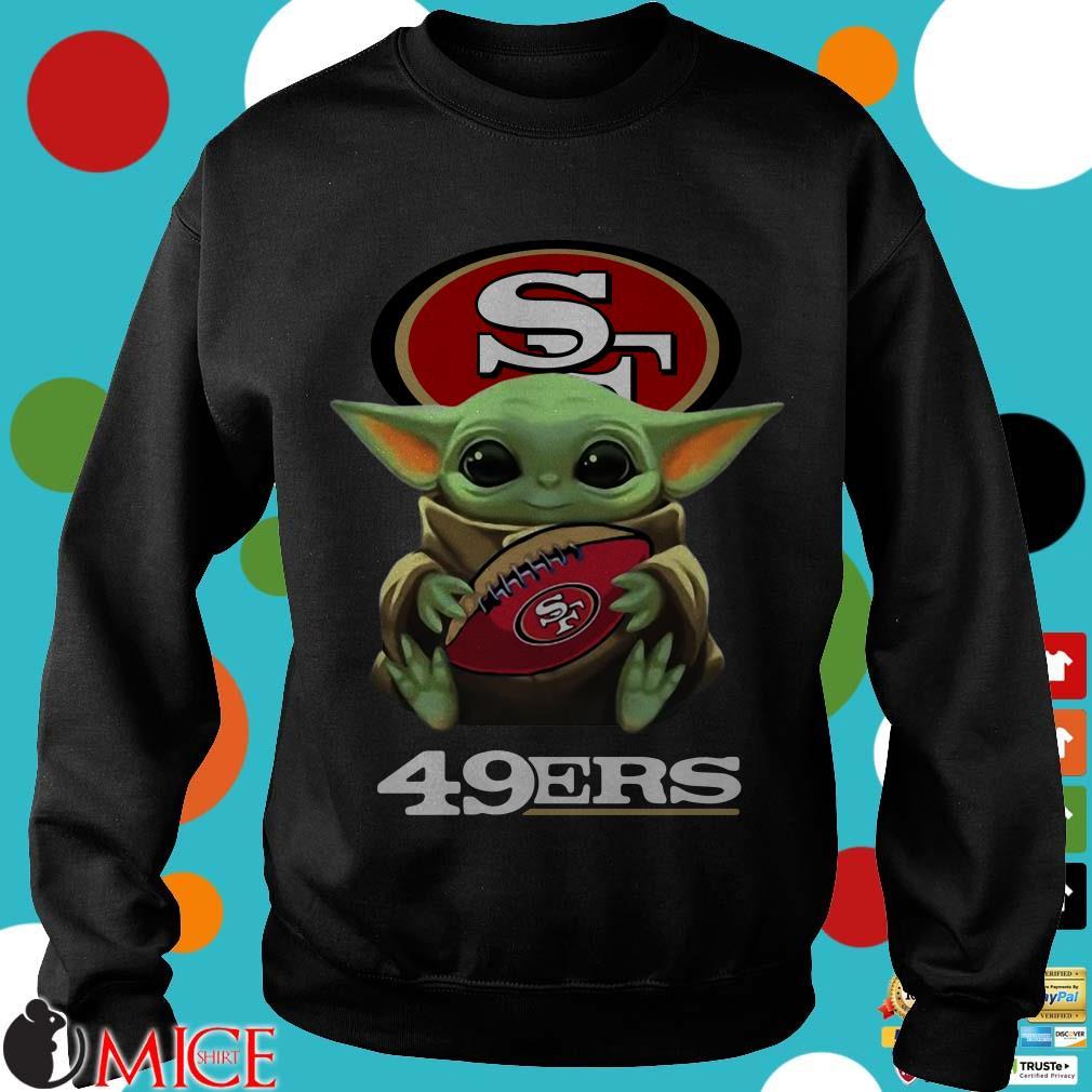 Baby Yoda Hug San Francisco 49Ers Shirt