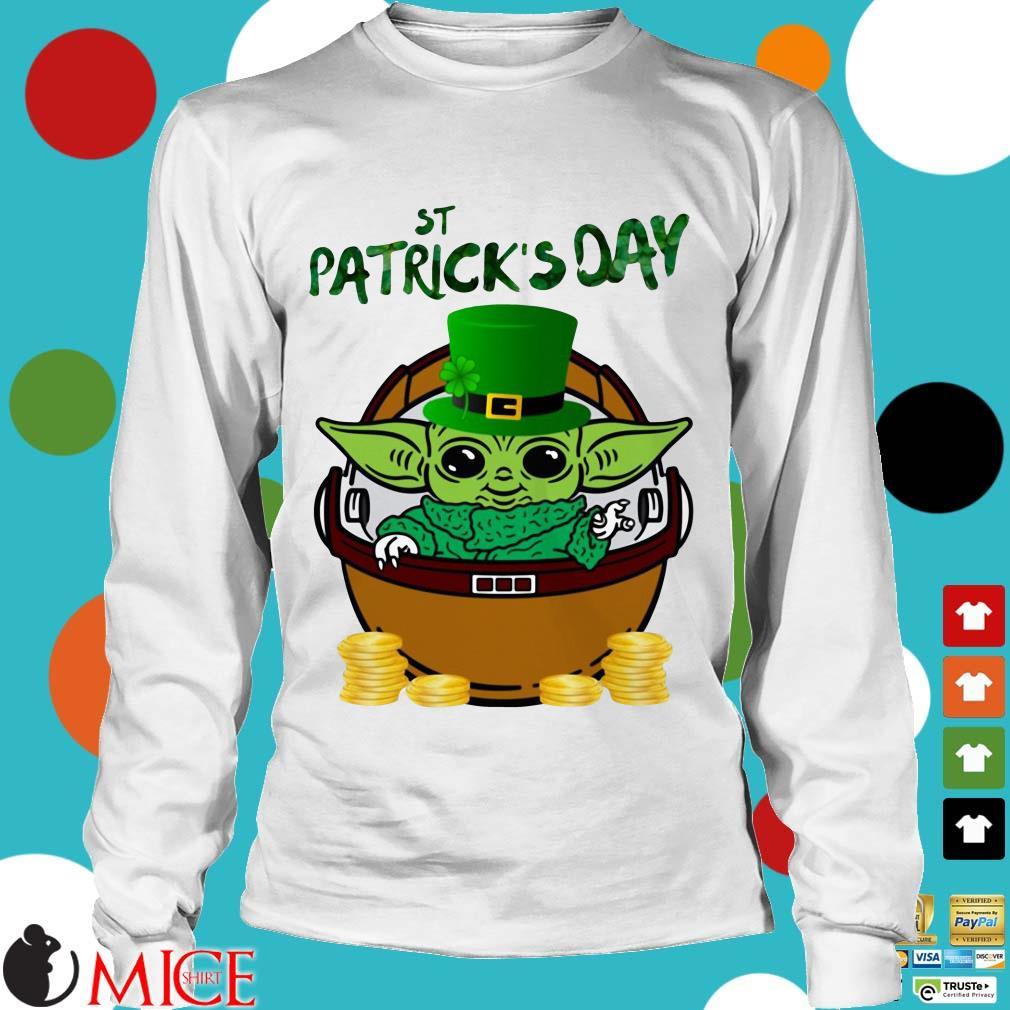 Baby Yoda The Mandalorian Happy St Patrick's Day Shirt