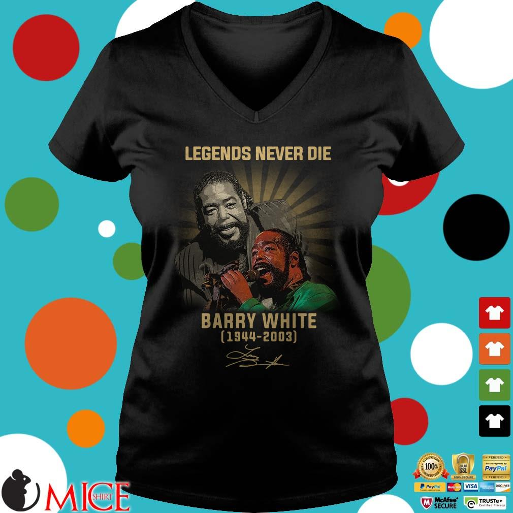 Barry White Legends Never Die 1994-2003 signature Shirt