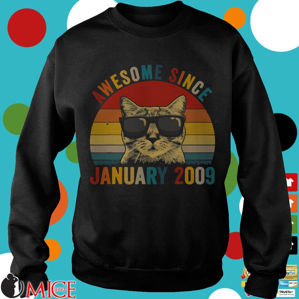 Cat awesome since January 2009 Vintage Shirt